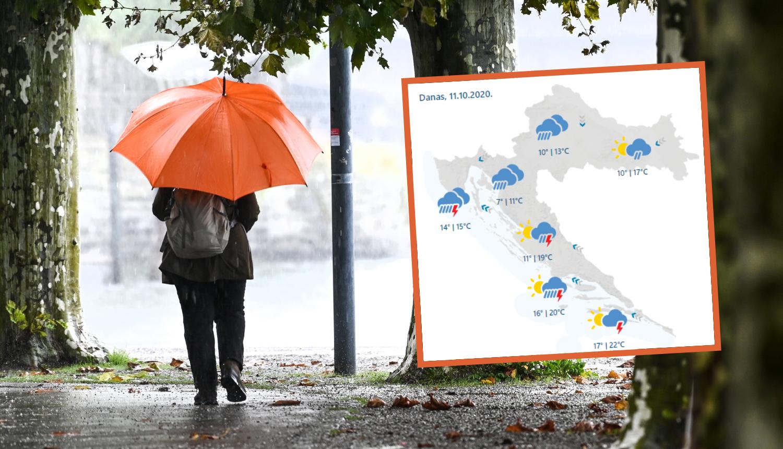 Upozorenja za nedjelju na najvišem stupnju: Stižu nam obilne kiše, oluje, pa  i snijeg