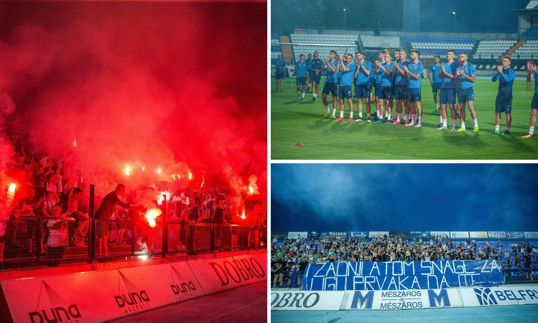 Ludilo u Osijeku! Vatreni doček igračima uoči velike utakmice