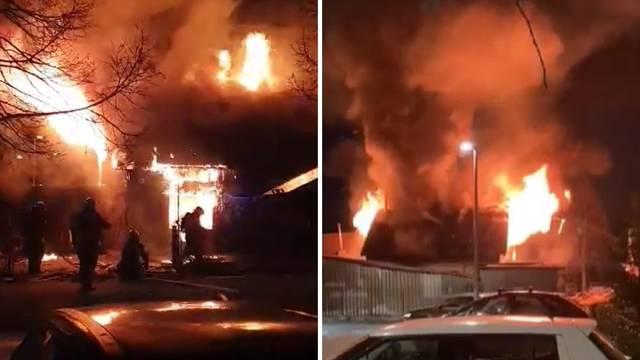 Gorjela kuća u Španskom:'Vatra je bila jaka, tavan se zapalio'