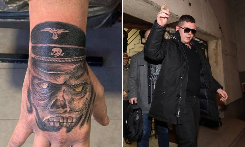 Đakić je na ruci tetovirao naci zombija iz filma 'Dead Snow'