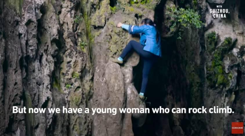 """""""Žena pauk"""": Po stijenama se penje bez opreme, nije ju strah"""