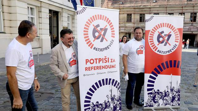 """Zagreb: Sindikati održali konferenciju na temu referenduma """"67 je previše"""""""