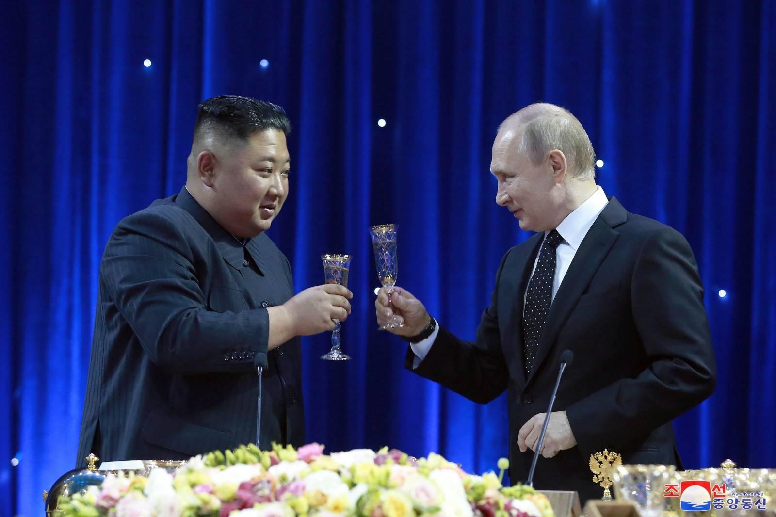 North Korean leader Kim Jong Un meets with Russian President Vladimir Putin in Vladivostok