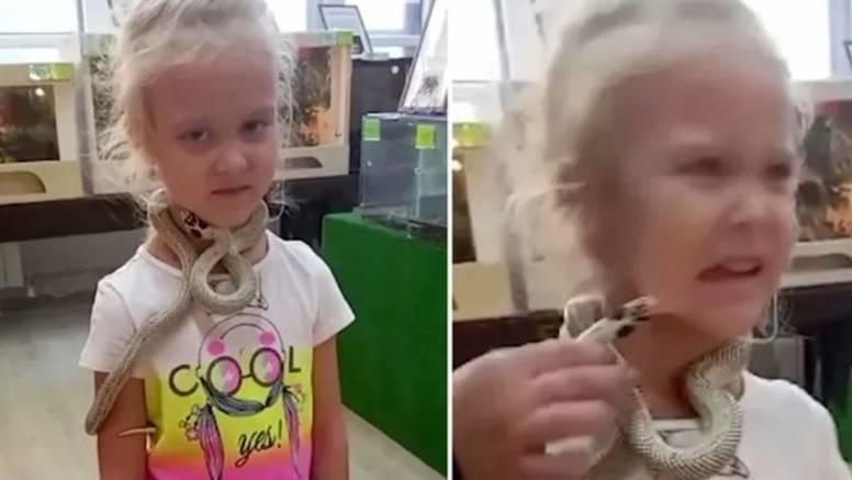 Curici omotali zmiju otrovnicu oko vrata, pa ju je ugrizla za lice: 'Namirisala je piletinu'