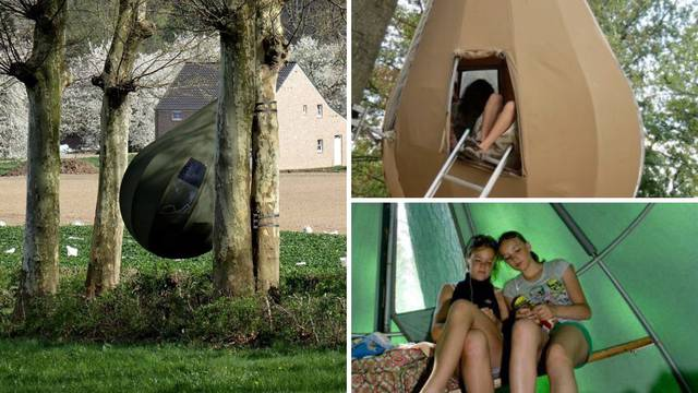 Ovakav šator još niste vidjeli - objesi se na drvo i stane obitelj