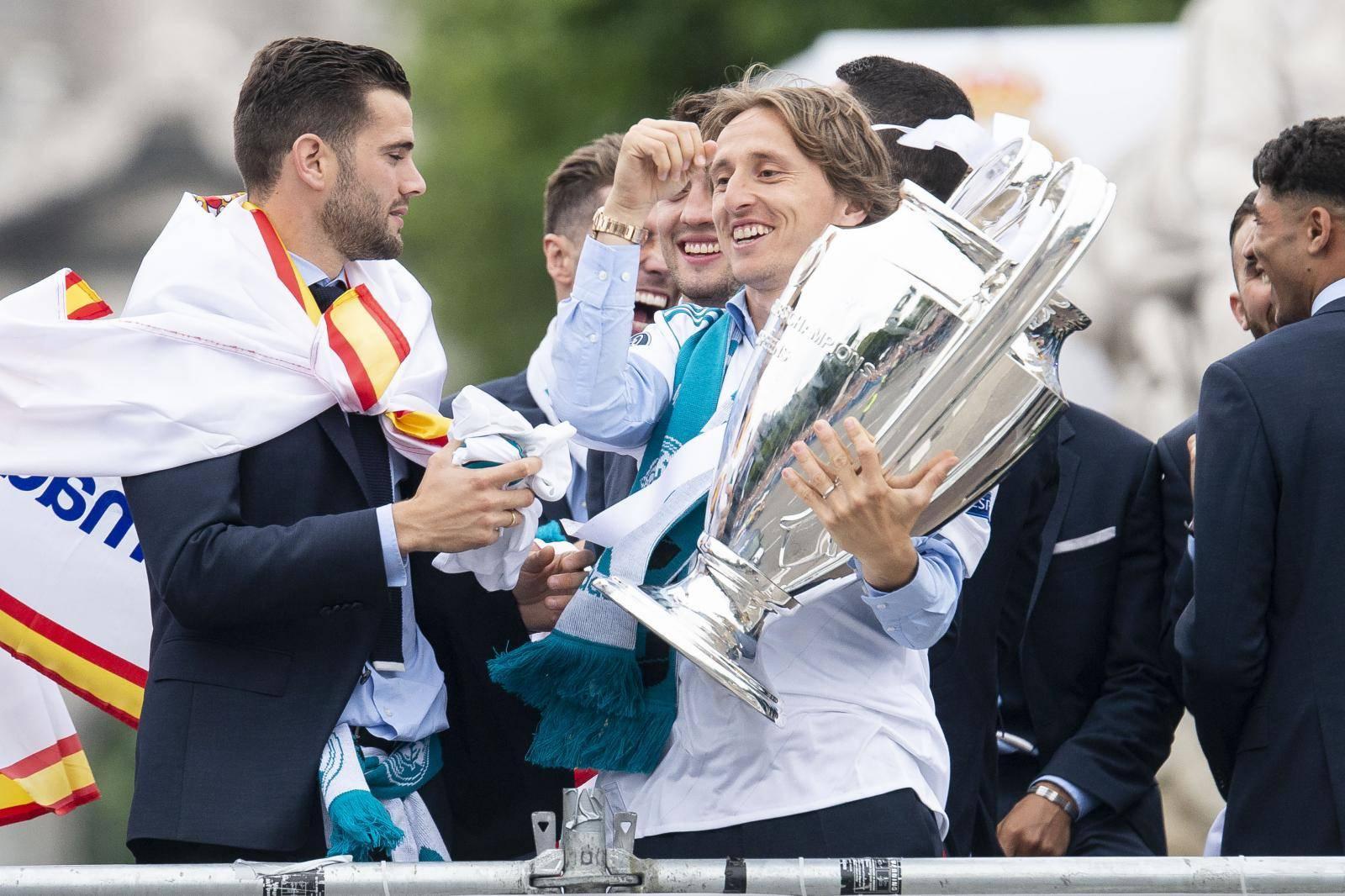 Real Madrid celebrates the Thirteen Champions League.