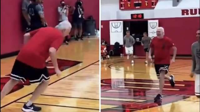 VIDEO NBA zvijezde tjerale su 72-godišnjeg trenera da šprinta