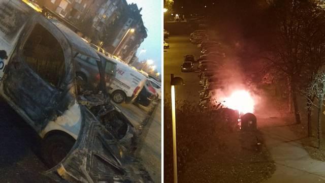 Izgorio kombi na zagrebačkom Jarunu, požar gasili vatrogasci