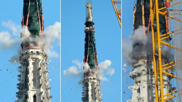 Pogledajte trenutak detonacije na sjevernom tornju Katedrale!