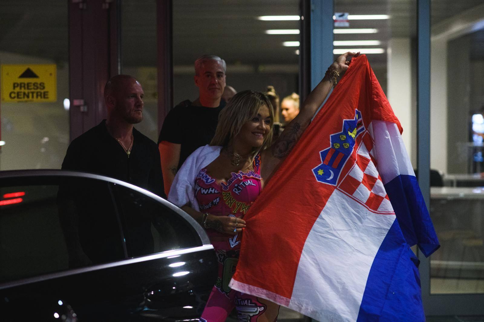 Zadar: Rita Ora pozirala s hrvatskom zastavom