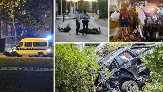 Tjedan strave: Autima su sletjeli s magistrale, pijani se zabijali u kuće, jurili su motociklima...