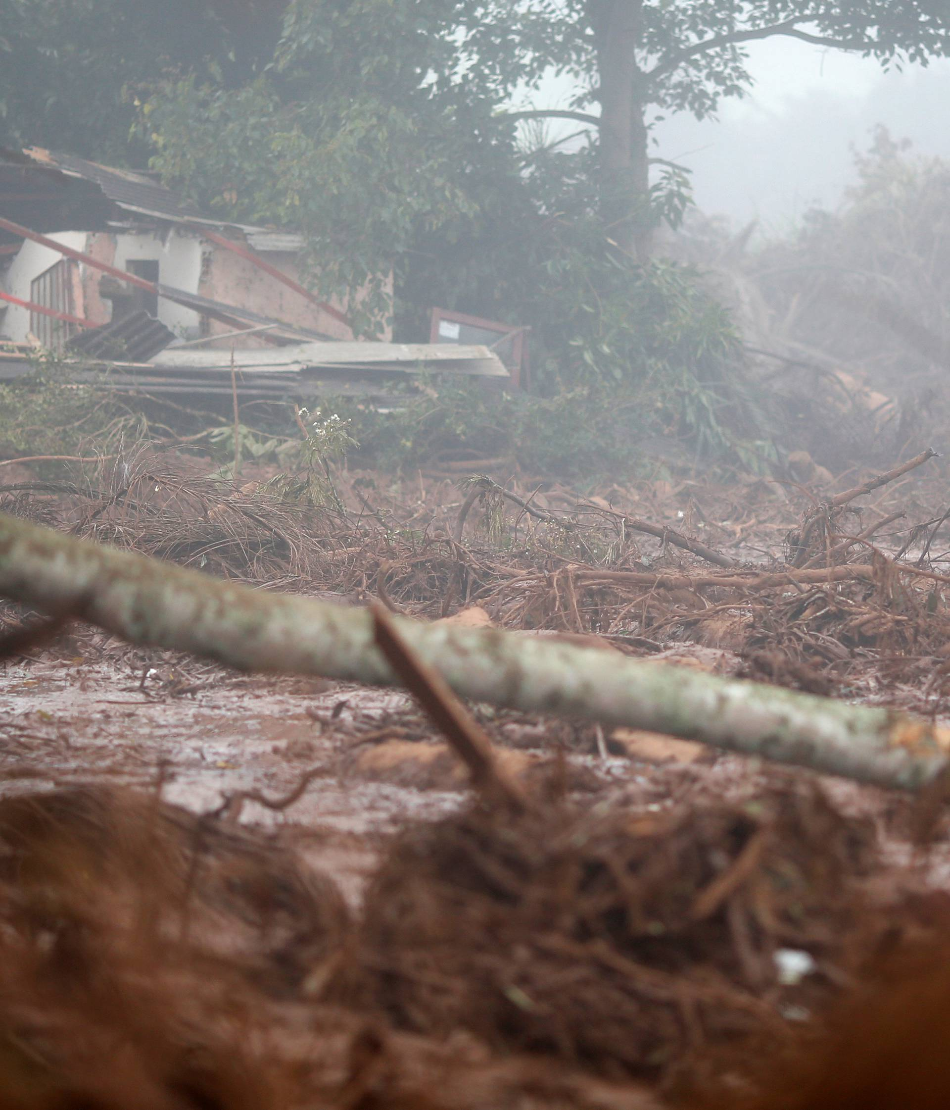 Destroyed house is seen after a tailings dam owned by Brazilian miner Vale SA burst, in Brumadinho
