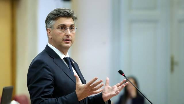 Zagreb: Izlaganje premijera Andreja Plenkovića u Saboru