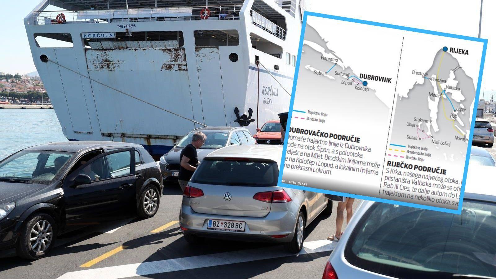 S otoka na otok: Evo kojim sve trajektnim linijama po Jadranu