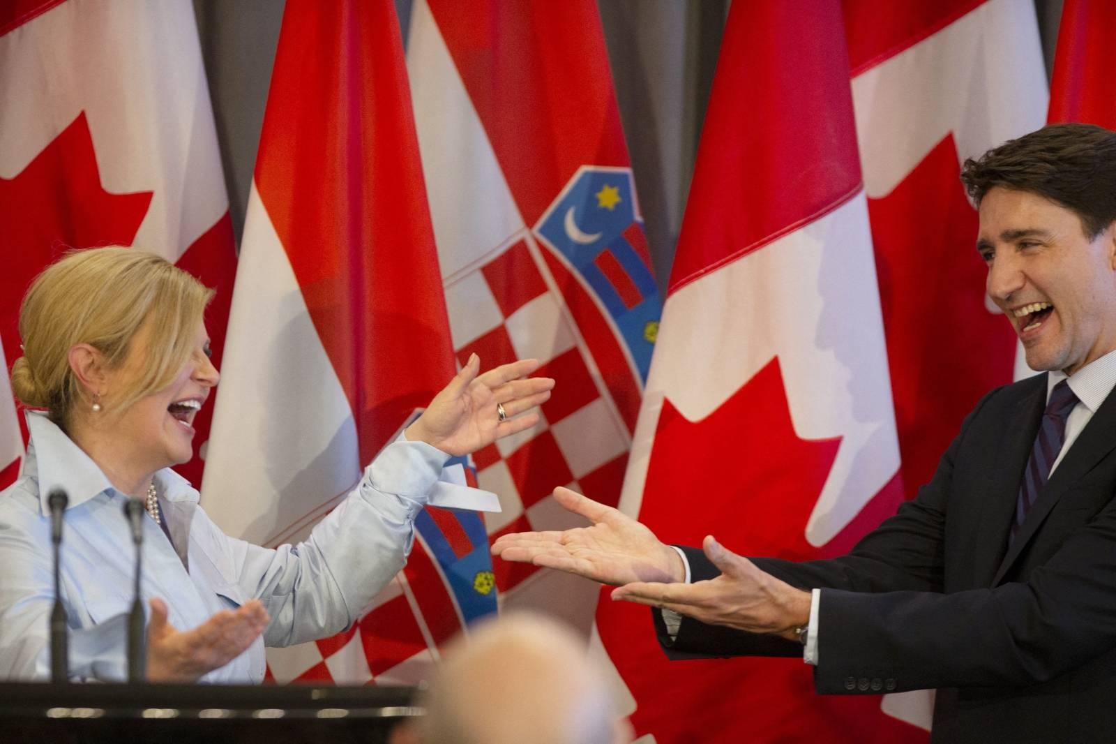 PM Trudeau Meets With Croatian President Grabar-Kitarovic - Hamilton