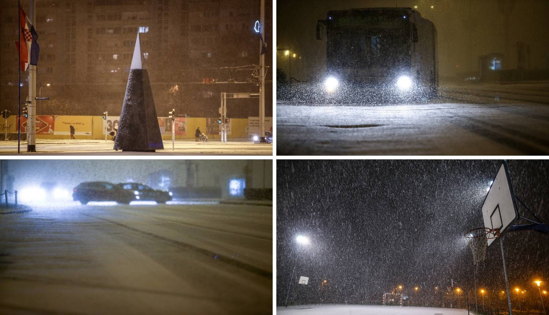 Pada snijeg u Zagrebu i okolici: Na Jadranu bura zatvara ceste