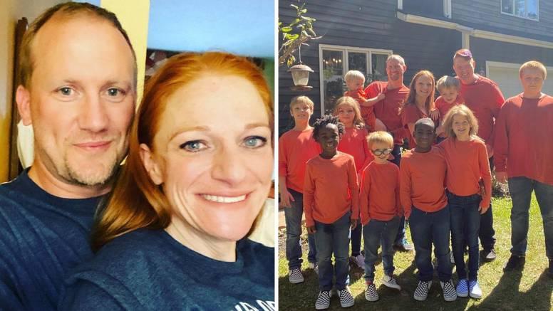 Žena kojoj su rekli da neće moći roditi sada ima čak 10 djece - četvero svojih i šest posvojenih