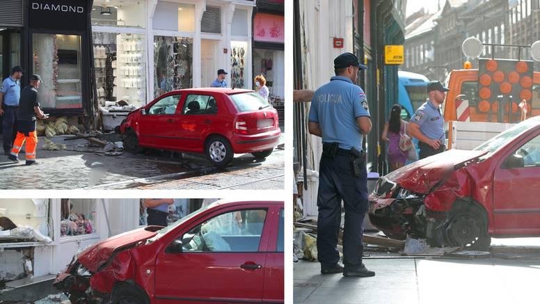 Autom joj se zabila u dućan: 'Pomislila sam da je potres, a onda sam vidjela auto u izlogu'