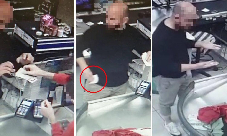 Pogledajte kako je drski lopov u Dalmaciji prevario blagajnicu