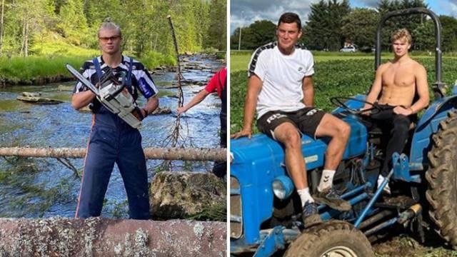Želi ga pola Europe, a on vozi traktor i motorkom pili drva