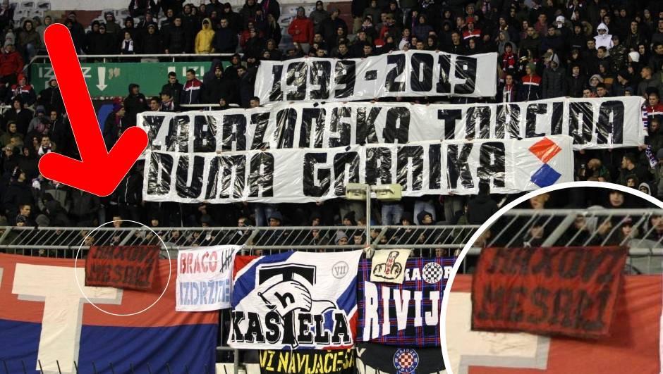 Novi ispad Torcide: Na tribini  transparent 'Maksovi mesari'