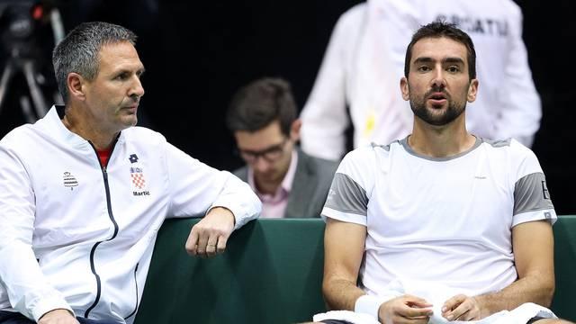 Zagreb: Kvalifikacije Davis Cupa, Hrvatska - Indija, Marin Čilić - Sumit Nagal