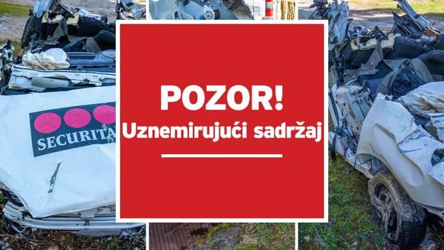 Stravične fotografije: Mladići nisu imali šanse, ovo je ostalo od auta nakon sudara u Istri
