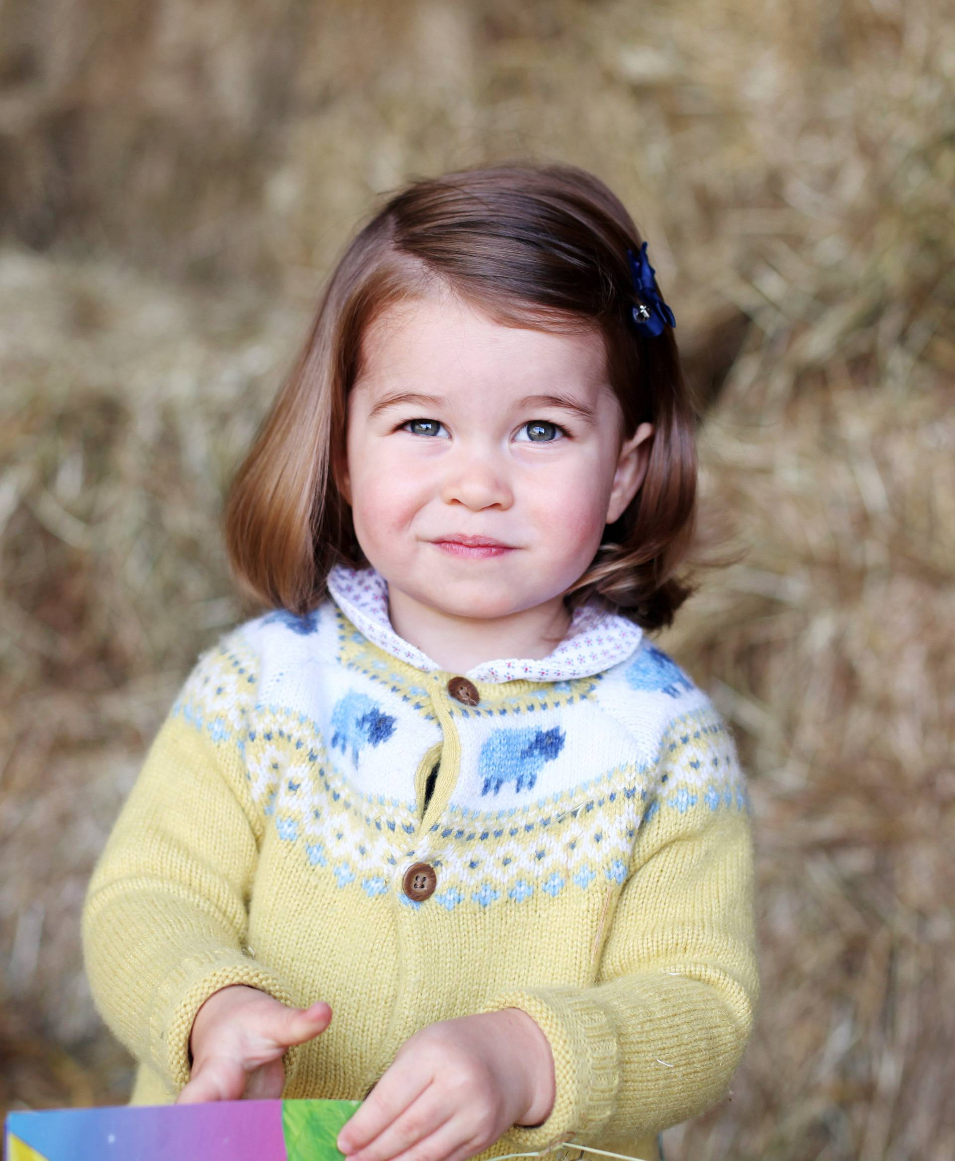 Britain's Princess Charlotte is seen in this undated handout photograph, taken at Anmer Hall in Norfolk, and released by Prince Willam and Catherine, Duchess of Cambridge