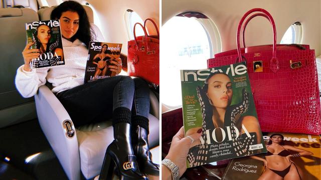 Georgina se pohvalila torbicom, privatnim letom i naslovnicama