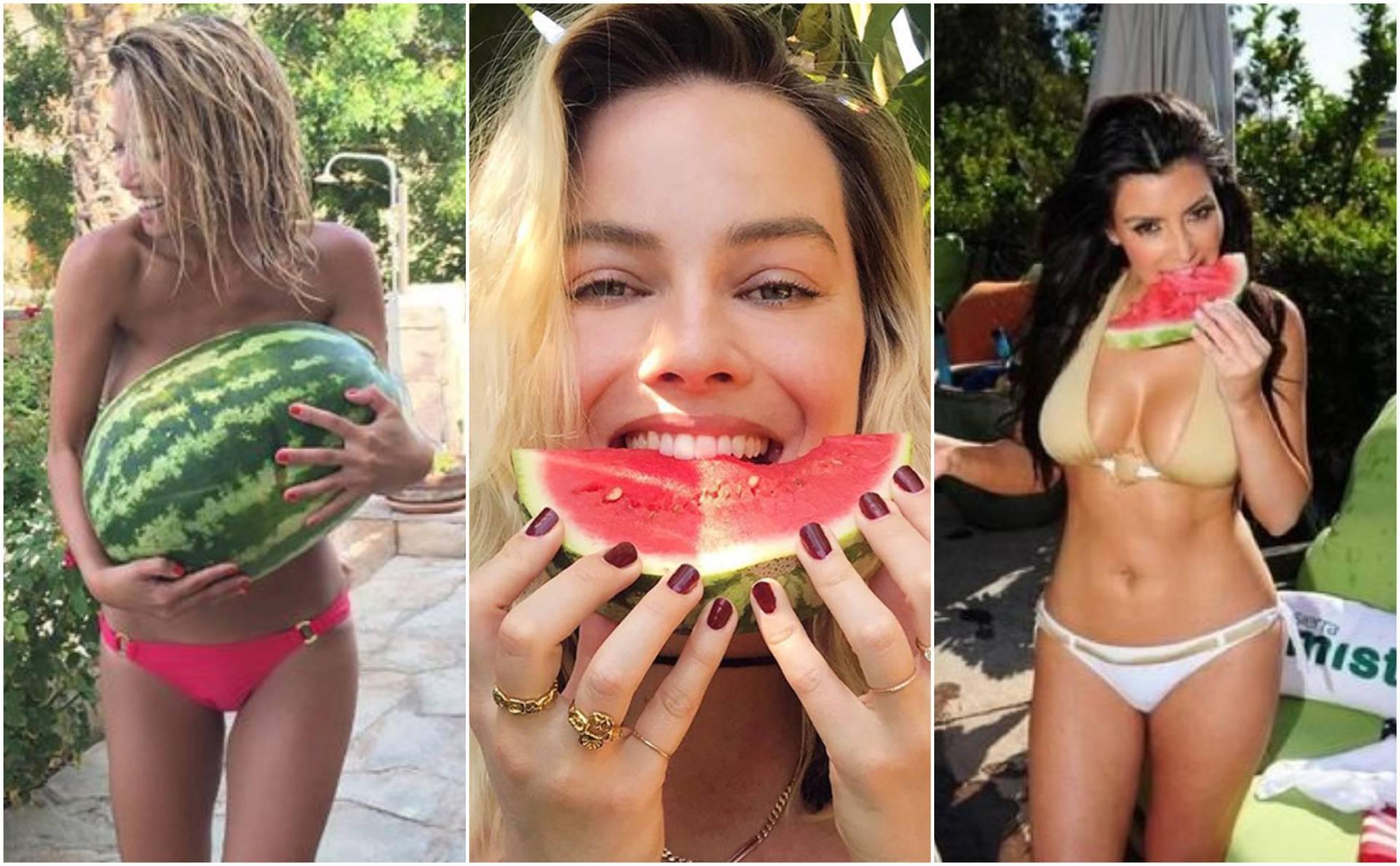 Poziranje s lubenicom