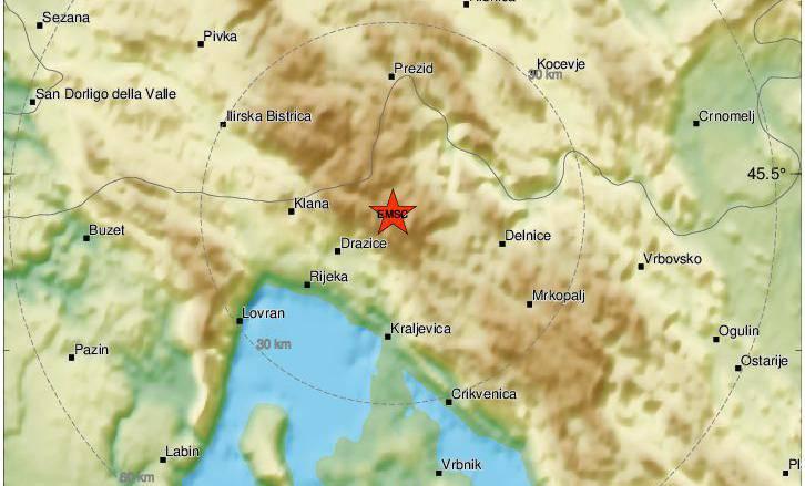 Nakon Zagreba, jutros je Rijeku pogodio potres od 2,7 Richtera