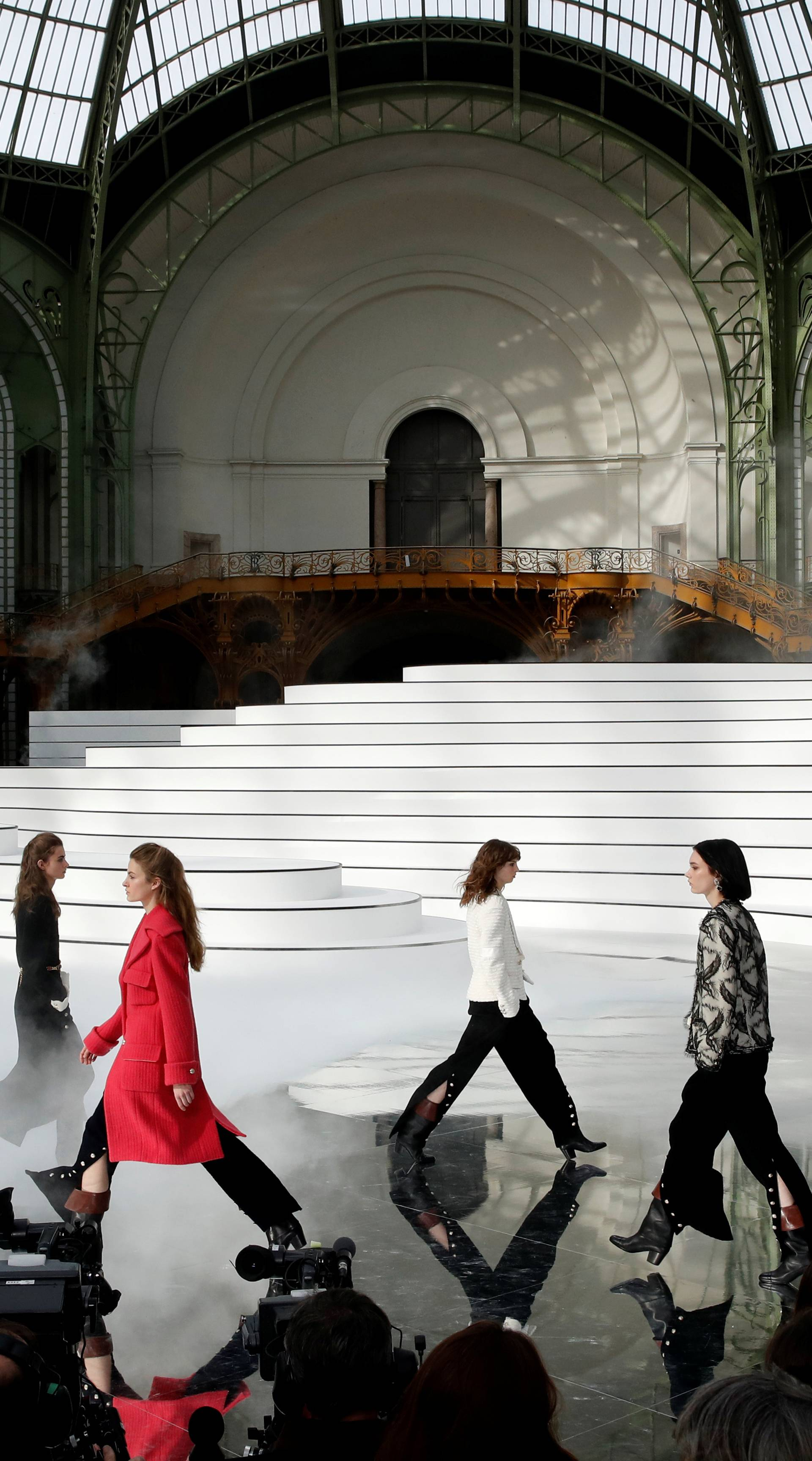 Chanel collection show at Paris Fashion Week