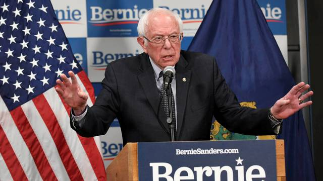 FILE PHOTO: Democratic U.S. presidential candidate Bernie Sanders speaks about coronavirus in Burlington