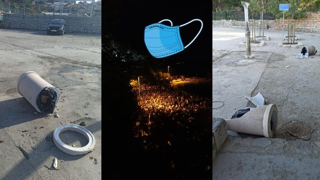Divlji vikend na plažama Splita: Netko je porazbijao i netom postavljene kante za smeće