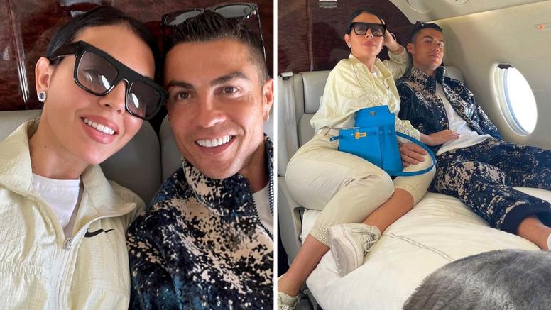 Georgina i Cristiano uživali u privatnom avionu, a svu pažnju 'ukrala' torba od 160.000 kuna