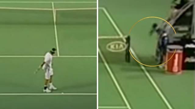 Nije dobio ni opomenu: Federer je jednom pogodio skupljača...