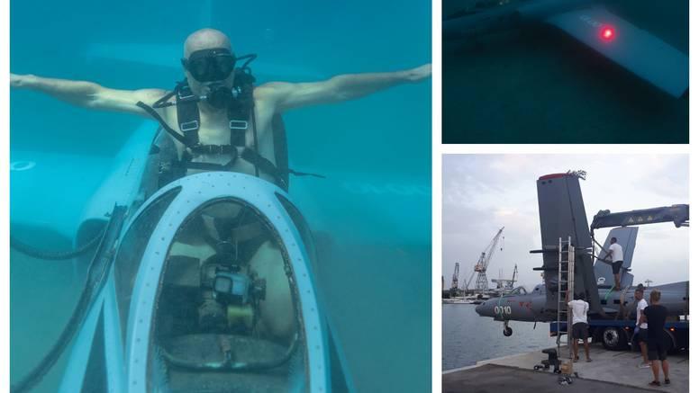 Kod Trogira su potopili vojni avion Jastreb: 'Bit će turistička atrakcija, moglo bi se i zaraditi'