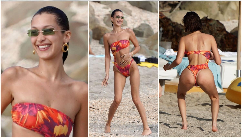 Bella privlači pažnju: Na plaži se rastezala pa vježbala guzu