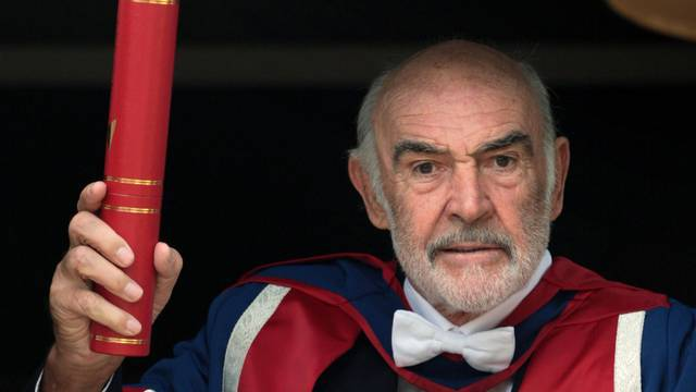 Sir Sean Connery collects honorary degree