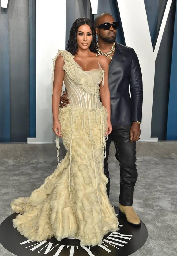 Kanye West and Kim Kardashian File Photo