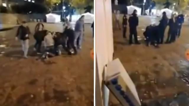 Snimka iz Pule: Mladić ukrao škare, napao više prolaznika po gradu i jednu policajku