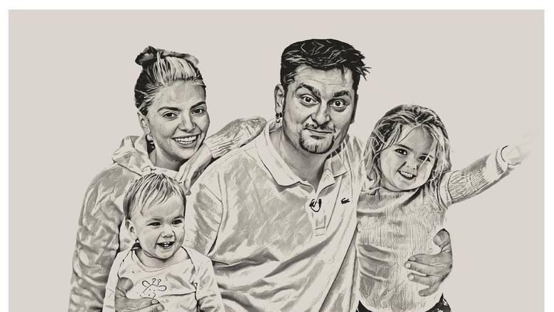 Emotivna Ella podijelila crtež s ocem i djecom: 'Srce mi je stalo'