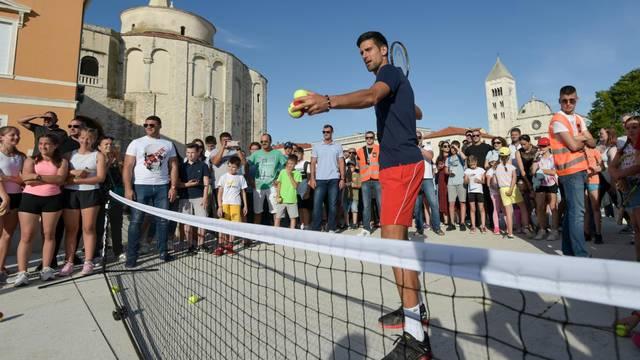 Kids' Day teniskog megaspektakla Adria Toura održan na zadarskom Forumu