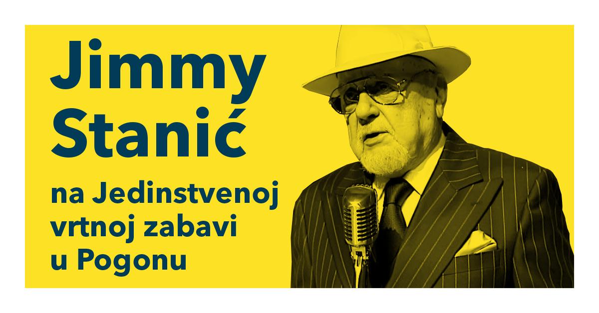 Koncert Jimmyja Stanića u dvorištu Pogona Jedinstvo