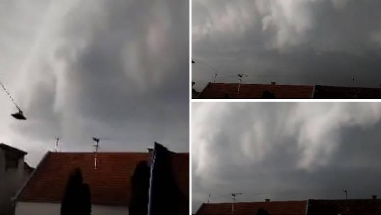 Pogledajte snimku oblaka koji je u Slavoniju donio armagedon