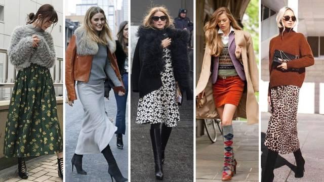 Vrlo ženstveno: 20 ideja kako kombinirati haljine i suknje zimi