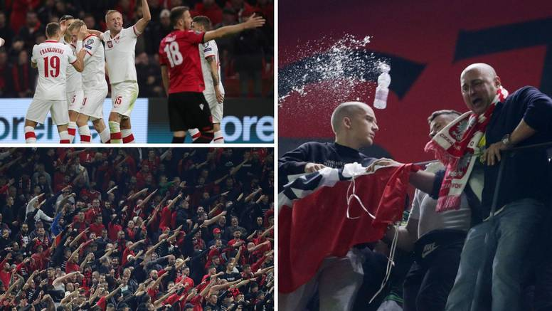 Kaos u Tirani: Albanski huligani bocama gađali Poljake, sudac odmah prekinuo utakmicu!