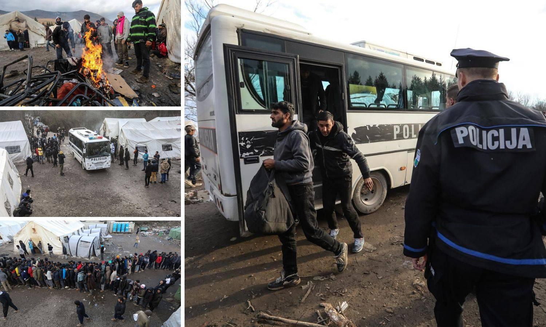 Migrante su iz kampa Vučjak u BiH prevezli prema Sarajevu