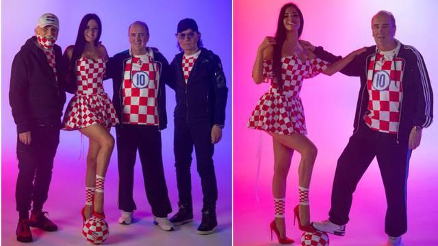 Snimili novu nogometnu himnu, Knoll je zaplesala uz Grdovića: 'Modrić nam se odmah javio'