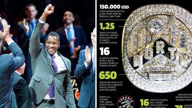 Prstenje za povijest: Raptorsi uz najveće dijamante u SAD-u
